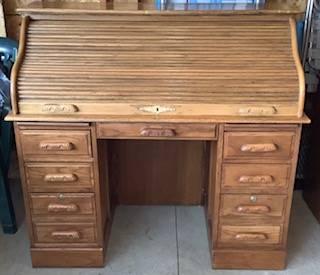 Photo Roll Top Desk - $225 (Marinette, WI)