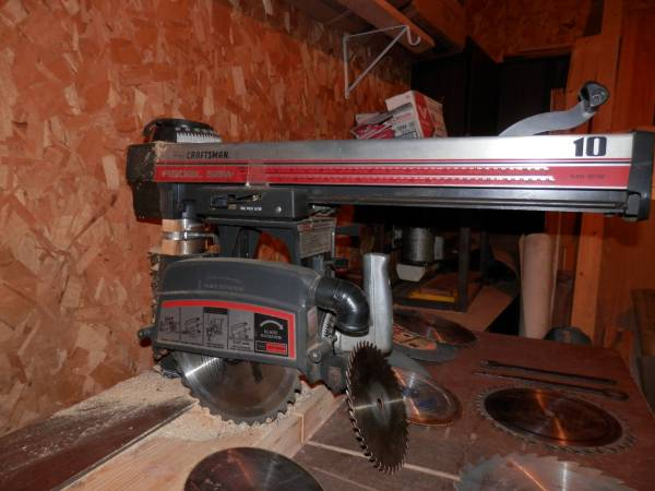 Photo Sears Craftsman 10quot Radial Armsaw, 2.5 HPExtra39s - $129 (Wisconsin Rapids)