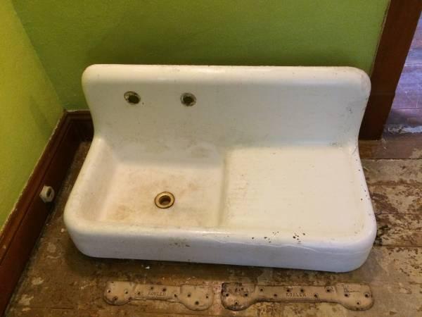 Photo Vintage Kohler Cast Iron Kitchen Sink For Sale - $125 (Wausau)