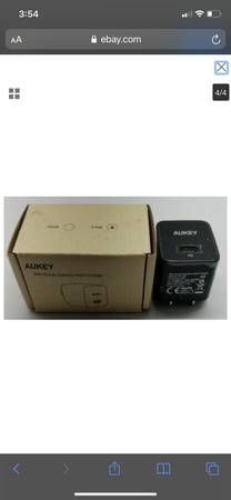 Photo AUKEY 18W POWER DELIVERY WALL CHARGER SUPER FAST CHARGER - $15 (EAST WENATCHEE WA)