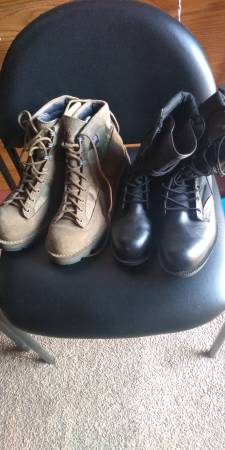 Photo Danner and belleville boots $50 and $35 (Waterville)