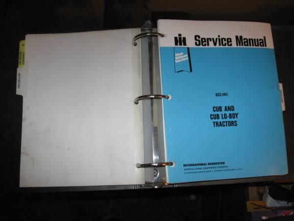 Photo Farmall Cub Shop Manual - $75 (Cashmere)