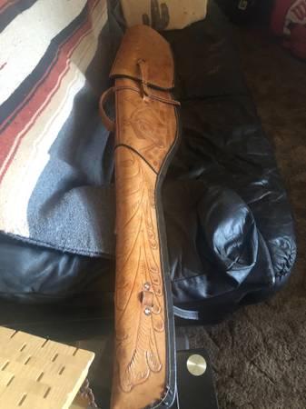 Photo Nice leather tooled rifle case - $100 (Wenatchee wa)