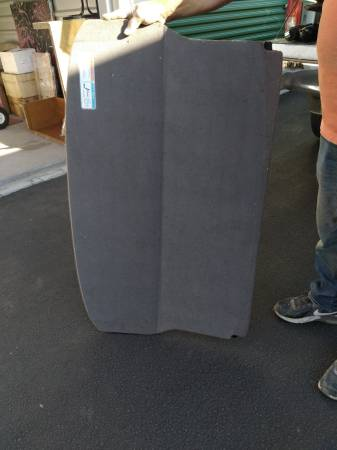 Photo Spare tire lid in trunk of car - $50 (Rock Island)