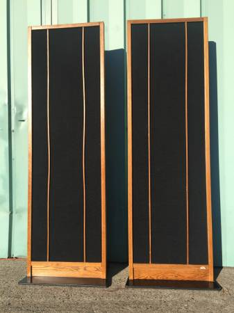 Photo Vintage Magnepan Magneplanar loud speakers - $385 (Cashmere)
