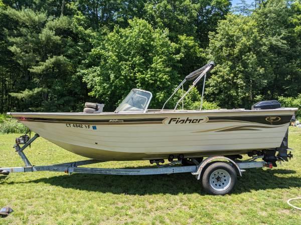 Photo 2001 Fisher 200 Hawk FS Deep V Aluminum 2039 boat - $11,000 (granby)