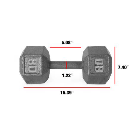 Photo 80lb Cast Iron Dumbbell NEW - $130 ($130 Christmas Special)