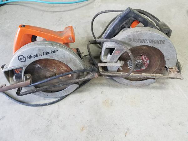Photo Black and Decker Skil saws - $10 (Whately)