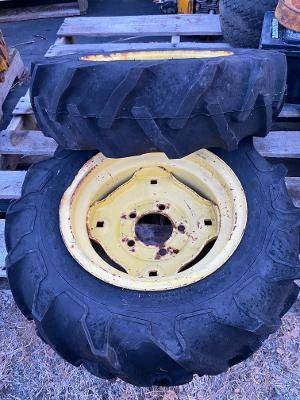 Photo Firestone 6-12 Ag Tires and Rims John Deere, Cub Cadet, Wheel Horse - $100 (Ludlow, MA.)