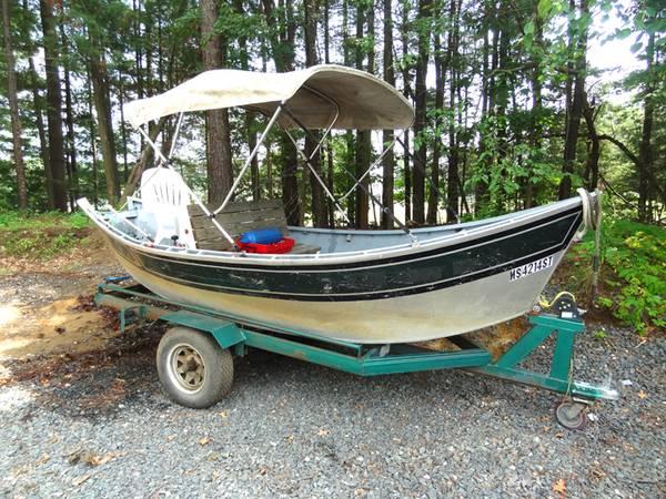 Photo Fish Rite boats on Boat Trailer with Long Shaft Mercury Outboard Motor - $3,500 (Chicopee)