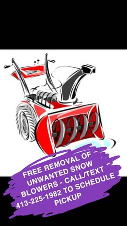 Photo Free removal of unwanted snow blower , lawn mower , etc (Western MA)