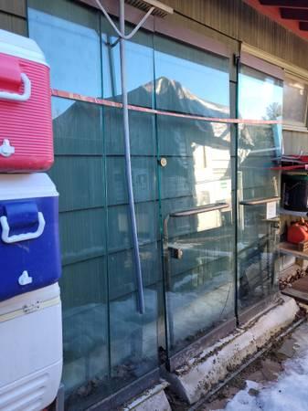 Photo Glass doors - $150 (Westfield)