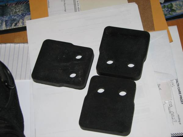 Photo NOS Rubber impellers for Simplicity snowblower - $20 (Southton, w.MA.)