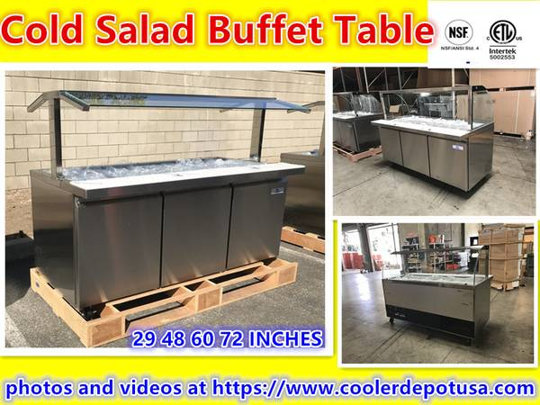 Photo NSF 27486072 Refrigerated Salad Sandwich Prep Table - $1,090 (100 new)