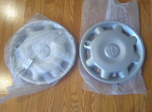 Photo New OEM pair of Volkswagen 1993-1999 Jetta Golf hub caps wheel covers - $45 (West Springfield)
