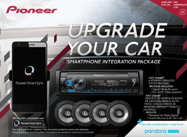 Photo New Pioneer Car Digital Audio System with Bluetooth and Four Speakers - $139 (Hadley)