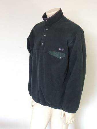 Photo PATAGONIA Synchilla Snap-T Fleece Pullover GreyGreen LARGE - $99 (Westfield)