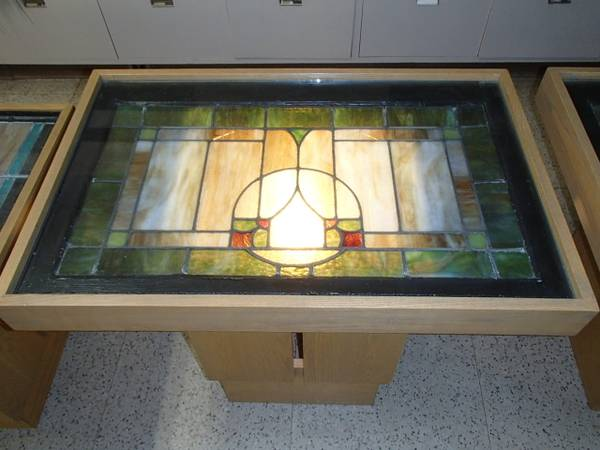 Photo Stained Glass Window Tables - $450 (Greenfield, MA)