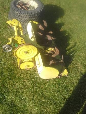 Photo bolens and wheel horse attachments deck , grader , tiller , 42quotplow jd - $25 (wmsbrg)