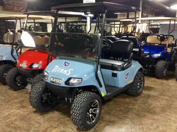 Photo 2020 E-Z-GO EFI GAS 4 passenger Custom Golf Cart TITANS - $6399 (AACO EVANSVILLE)