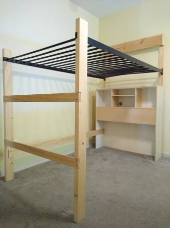 Photo Convertible Kid Loft Bed Frame - twin - $95