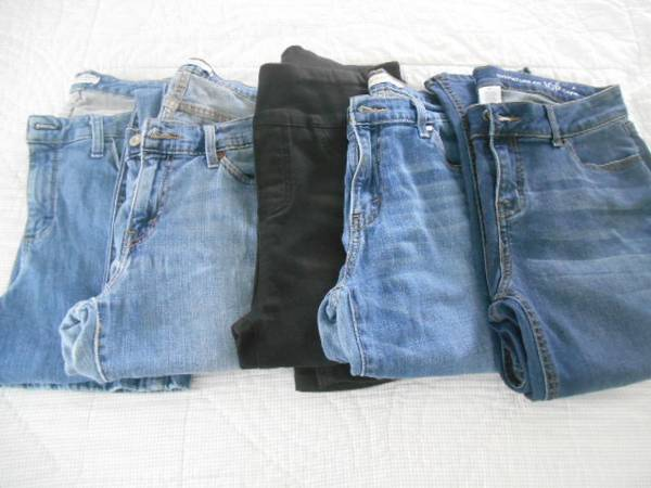 Photo JEANS-5 pair Size 10 - $20 (westside of Evansville)