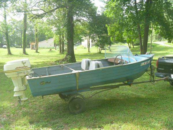Photo NICE 1966 Mirrocraft 1439 Aluminum Runabout 1962 Johnson 40 HP Outboard - $1,000 (Trigg County)