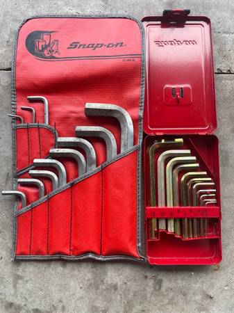 Photo Snap On Tools Metric  SAE Allen Wrenches - $75 (Newburgh IN)