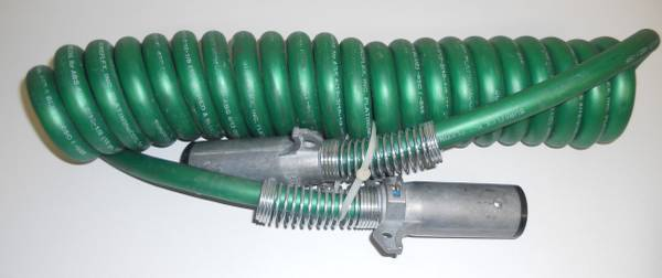 Photo 15 7-WAY POWER COILED ELECTRIC CABLE ABS DUTY GREEN TRACTOR TRAILER - $65 (Keedysville)