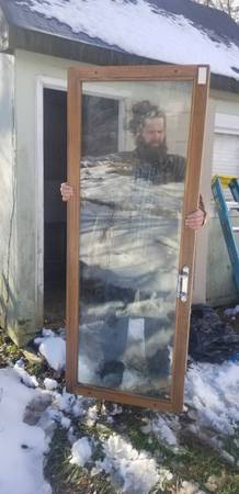 Photo Glass French door double-pane - $75 (Winchester)