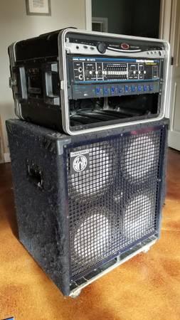 Photo Hartke HA3500 Bass Amp and SWR 4x10 Bass Cabinet - $400 (Bentonville)