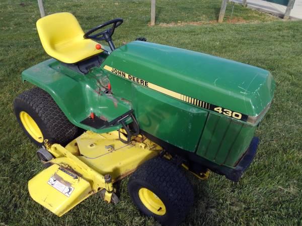 Photo John Deere 430 Diesel Garden Tractor 60 In Mower Deck - $2500 (Hagerstown Md)