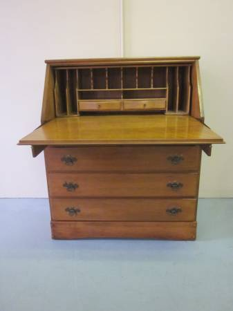 Photo Solid wood secretary desk with 4 drawers  dresser - $165 (Hagerstown)