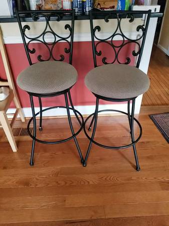 Photo Two Bar Stools - $80 (Silver spring)