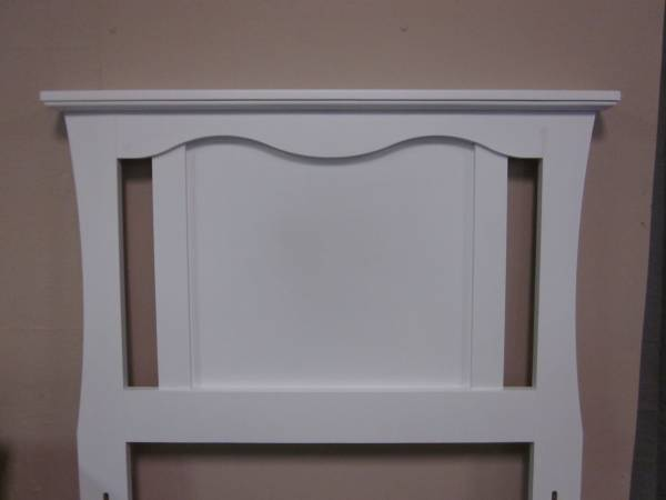 Photo White twin size headboard with bed frame - $125 (Hagerstown)