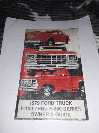Photo 1979 Ford truck owners manual - $50 (Grand junction)