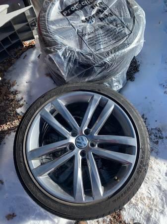 Photo 19quot 19 inch OEM Volkswagon VW Golf Passat Audi Wheels Rims Tires Set 4 Goodyear - $1,250 (Glenwood Springs)