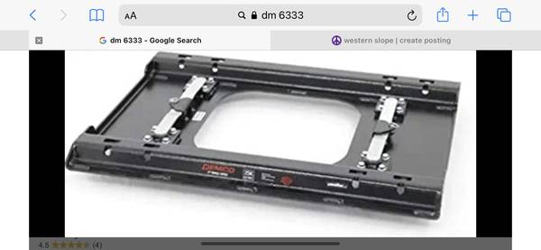 Photo Fifth wheel rail adapter for 20202021 GMC Sierra 2500,3500 puck syste - $300 (Grand junction)