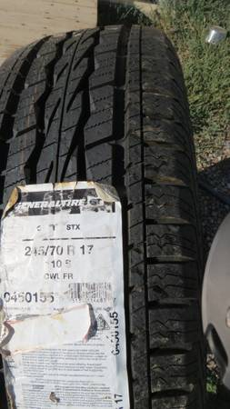 Photo Four new General Grabber tires - $350 (Loma)