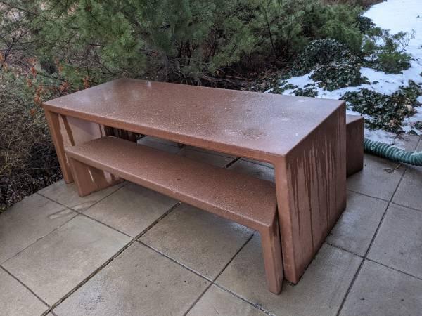 Photo Free Concrete Picnic Table (Centennial)
