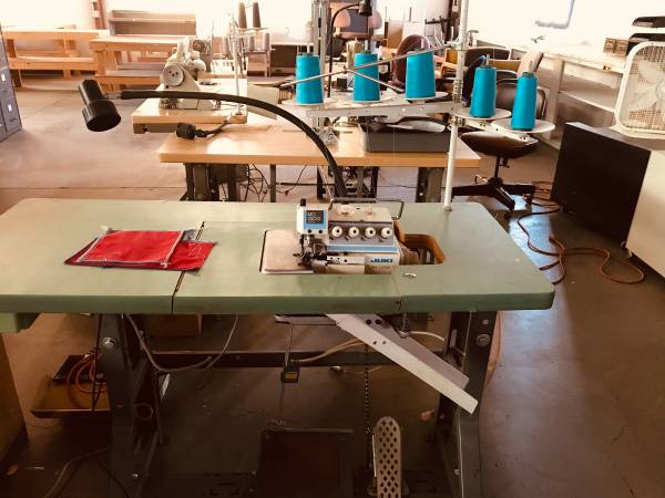 Photo Industrial Sewing machines, fabric cutter and spreader (Montrose, CO)