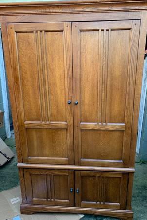 Photo Armoire Wardrobe Closet Wood - $129