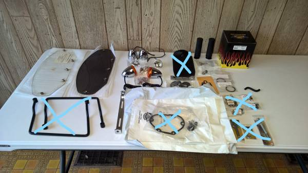 Photo (FINAL REDUCTION) HARLEY PARTS FOR SOFTAIL AND SPORTSTER. - $55 (Wheeling)