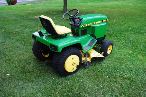Photo John Deere 316 Garden Tractor with Snow Blade - $1,350 (Steubenville, OH)