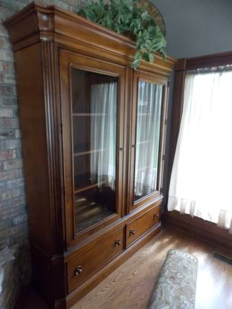 Photo Library Bookcase with Glass Doors - $1,000 (West Alexander)