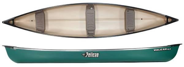 grün Familienkanu Kanadier Tourencanadier Canoe Pelican 15.5 Bausatz