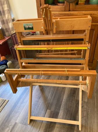 Photo Schacht table top weaving loom with stand - $800 (Emlenton)