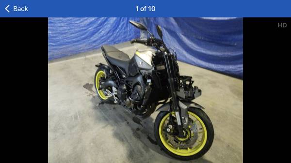 Photo Yamaha MT09 cheap - $3,800 (North pittsburg)