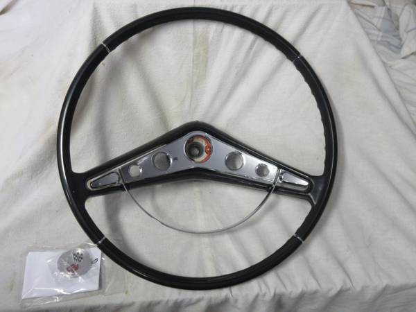 Photo 59-60 Chevy Impala Steering wheel - $225 (Haysville)