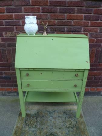Photo Antique Shabby Chic Mission Style Secretary Desk - $135 (East Wichita)